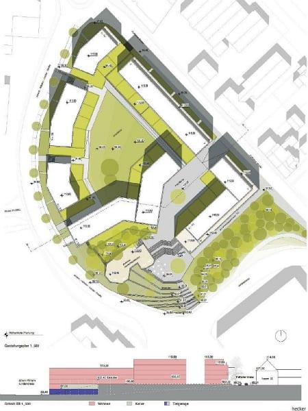 Ein erster Entwurf des neuen Wohnviertels