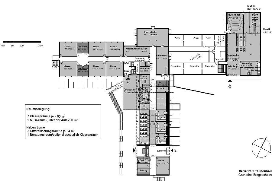 Das Erdgeschoss des geplanten Neubaus