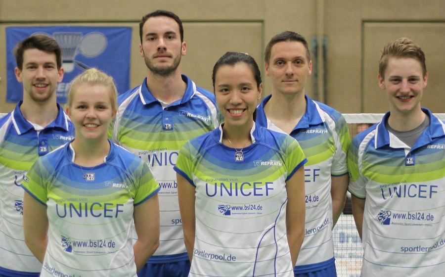 Die zweite Badminton-Mannschaft des TV Refrath
