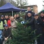 Bensberger Lions verkaufen gespitzte Weihnachtsbäume