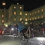 Radfahrer demonstrieren für MTB-Parcours Nutbush
