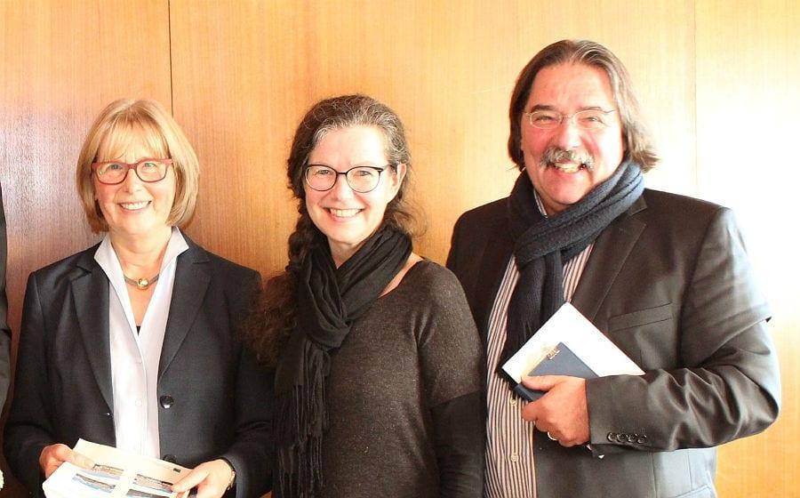 Elisabeth Sprenger mit Marianne Vogt-Werling und Michael Werling