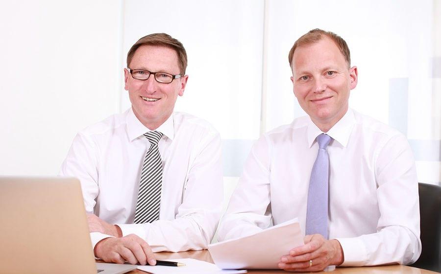 Lothar Uedelhoven und Thomas Büscher führen die VR Bank Bergisch Gladbach