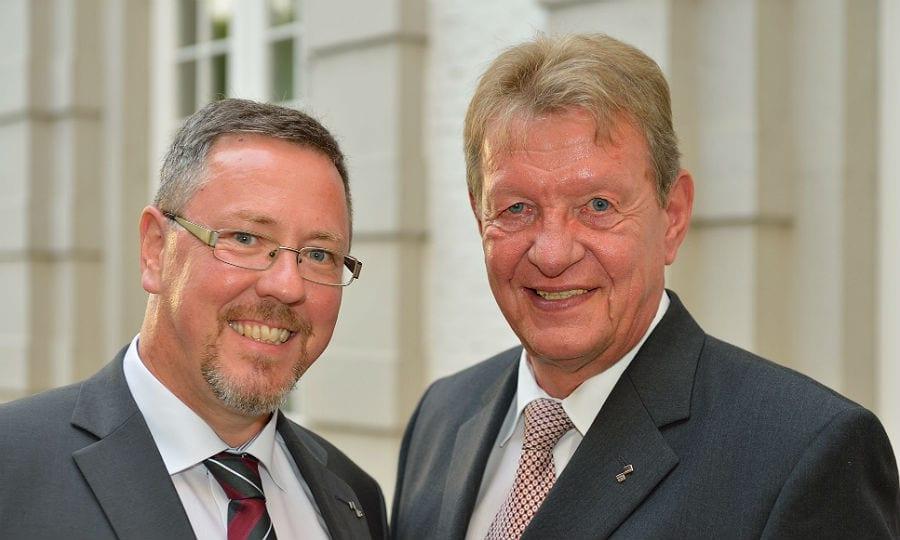 Helmut Krause und Olaf Schmiedt, Vorstände der Bensberger Bank
