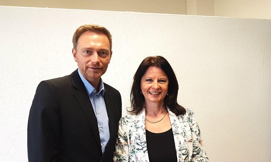 Christian Lindner und Anita Rick-Blunck