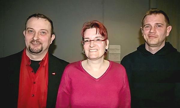 Die neuen Sprecher der Linken in RheinBerg: Markus Winterscheidt, Susanne Winterscheidt, Mike Galow