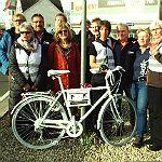 Geisterfahrrad erinnert an verunglückten Radfahrer