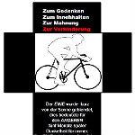 Erstes Ghost Bike in Gladbach erinnert an tödlichen Unfall