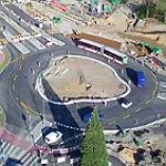 Der neue Kreisverkehr aus der Vogelperspektive