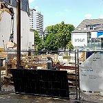 Baukran überragt das Laurentiusviertel