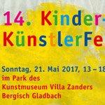Villa Zanders feiert 14. Kinderkünstlerfest im Park