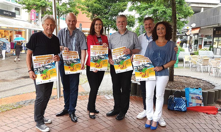 Die Organisatoren des Bensberger Schloßstadtfests 2017