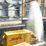DHL liefert im Laurentisviertel eine kühle Dusche ab