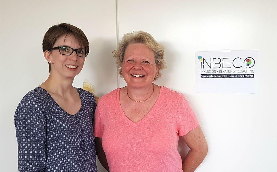 Katharina Kaul und Anne Skribbe bauen in der KJA die Servicestelle InBeCo auf.