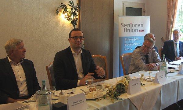 Jens Spahn zu Gast bei der Seniorenunion Bergisch Gladbach