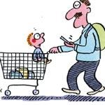 """Baby statt Handy: Cartoons  werben für """"Sprich mit mir"""""""