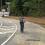 Ein Radfahrstreifen – fast so breit wie lang