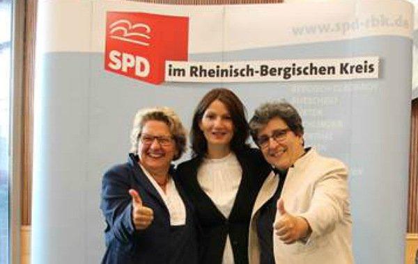 Svenja Schulze, Generalsekretärin der NRW SPD, Tülay Durdu - Landratskandidatin, Susana dos Santos, MdL Köln