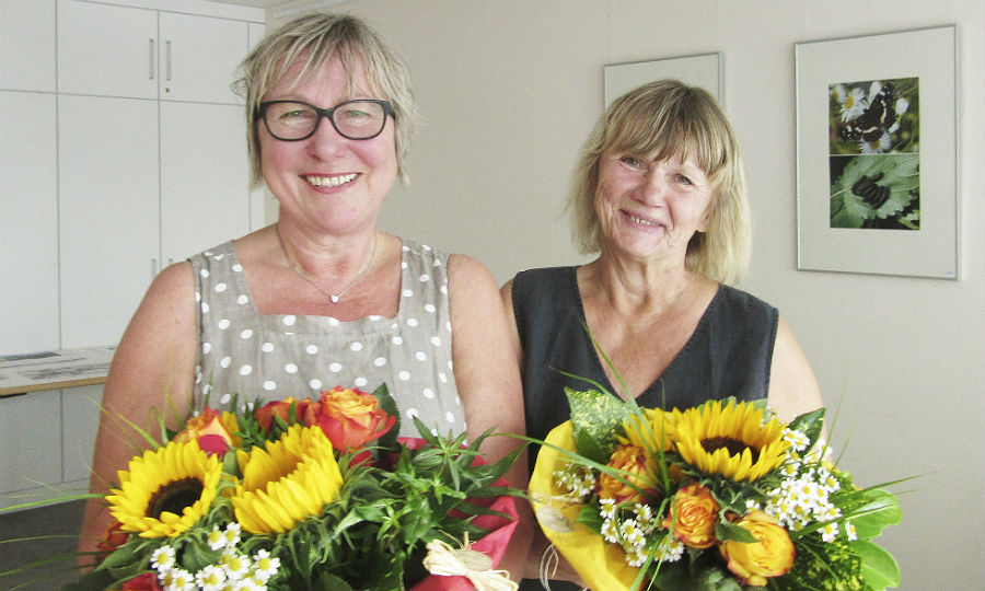 Doro Corts und Brigitte Voigtländer leiten den Verein mitein-anders in Bergisch Gladbach