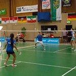 Badminton-Länderspiel U13 gegen Frankreich in Refrath
