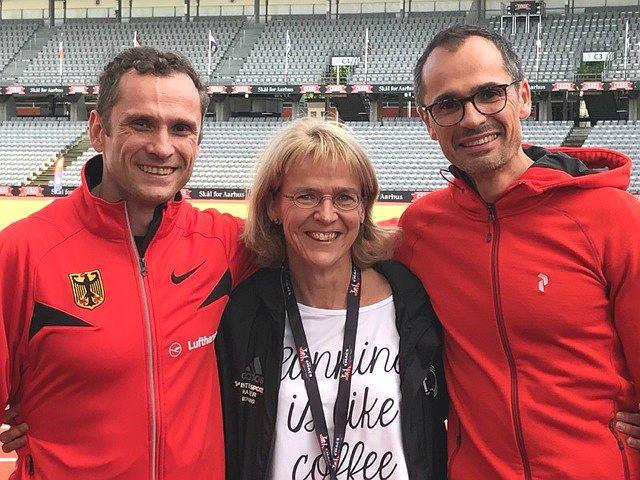 Jochen Gippert, Monika Gippert, Kolja Ewert, das Team des TVH in Aarhus
