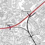 Neue Pläne für zwei neue Straßen zum Bahndamm