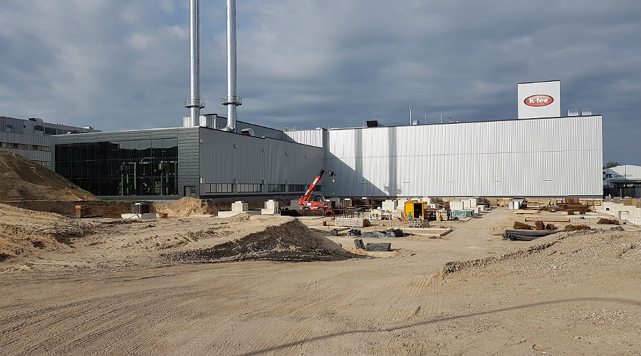 Krüger hat kräftig in seine Kaffee-Rösterei investiert und beschäftigt allein in Bergisch Gladbach deutlich mehr als 1000 Arbeitnehmer. Die Fläche auf diesem Foto wird im Moment bebaut.