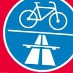 Mit dem Fahrrad über die Autobahn zum Klima-Demo