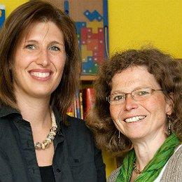 Hanna Gjakonovski und Elisabeth Völker leiten das Lernstudio in Bergisch Gladbach