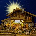 Christi Geburt als volkstümliches Schauspiel in Dialekt