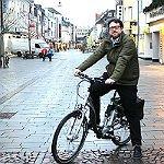 Probezeit für Radfahrer in der Fußgängerzone