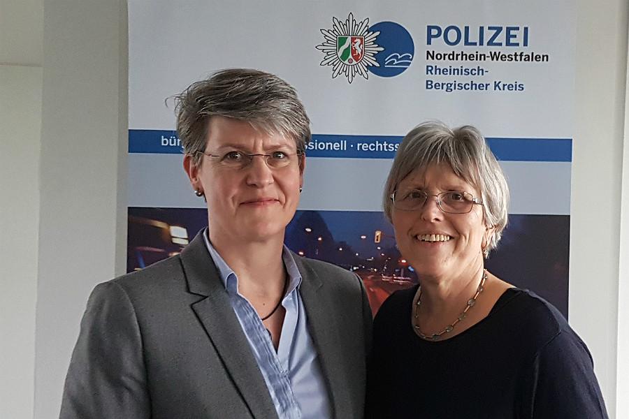 Claudia Kammann übernimmt von Gundhild Hebborn den Bereich Opferschutz und Prävention bei der Polizei RheinBerg