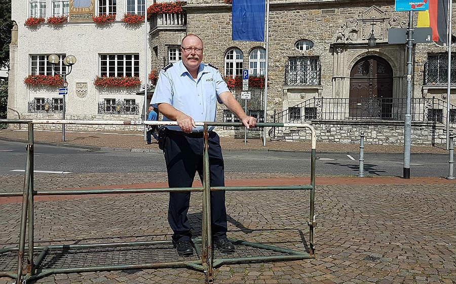 Richard Barz, Sprecher der Polizei RheinBerg