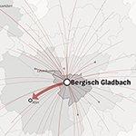 So pendeln die Bergisch Gladbacher