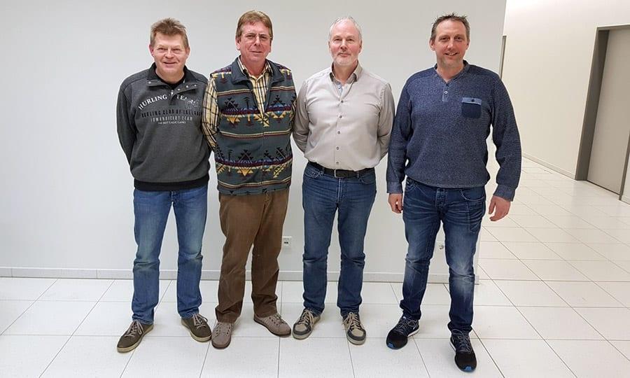 Der neue Vorstand: Michael Menkhaus, Karl-Heinz Setzekorn, Peter Boschen und Frank Quabarch.