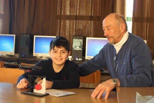 Amin mit seinem Mentor, Prof. Dr. G.-G. Börger
