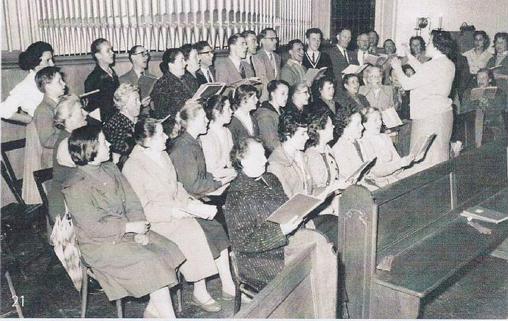 Der Chor der Gnadenkirche in den 50er Jahren