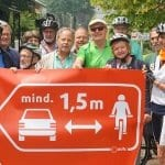 1,5 Meter Abstand: Aktion zum Start des Stadtradelns