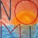 Trauernde Kinder zeigen Kunstwerke im Kreishaus