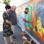 Graffiti verschönert den Wertstoffhof