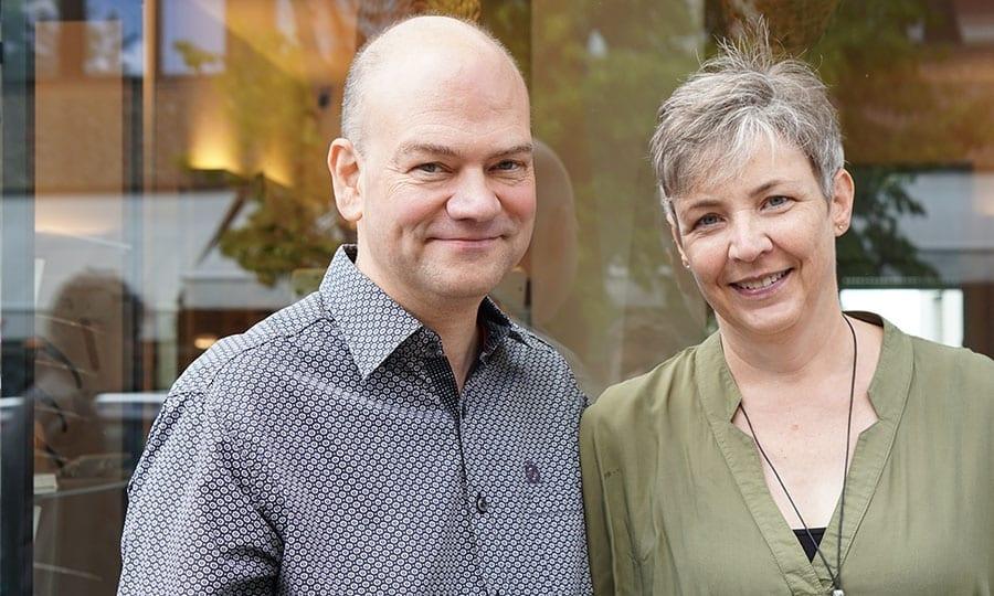 Bernhard und Monika Wolf alleine...