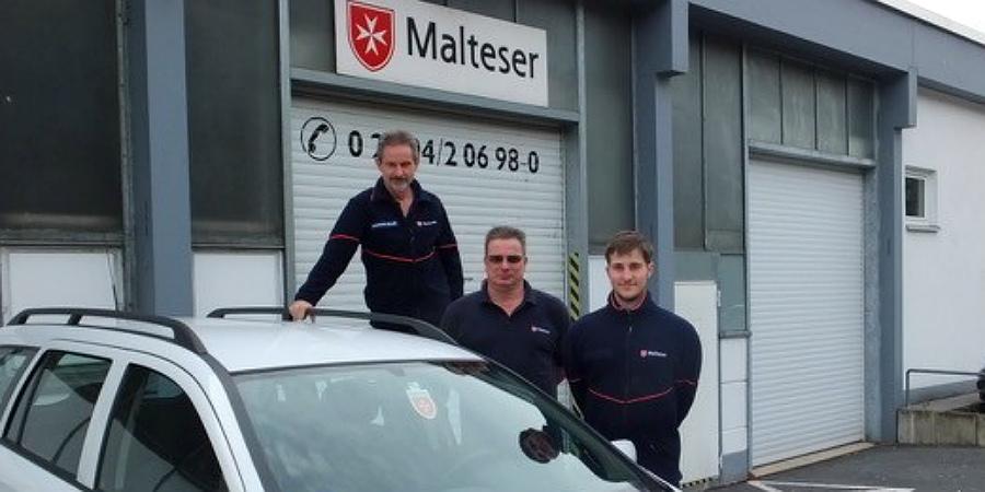 Personen von links nach rechts: Wolfgang Müller, Joachim Büser, Sven Schneider