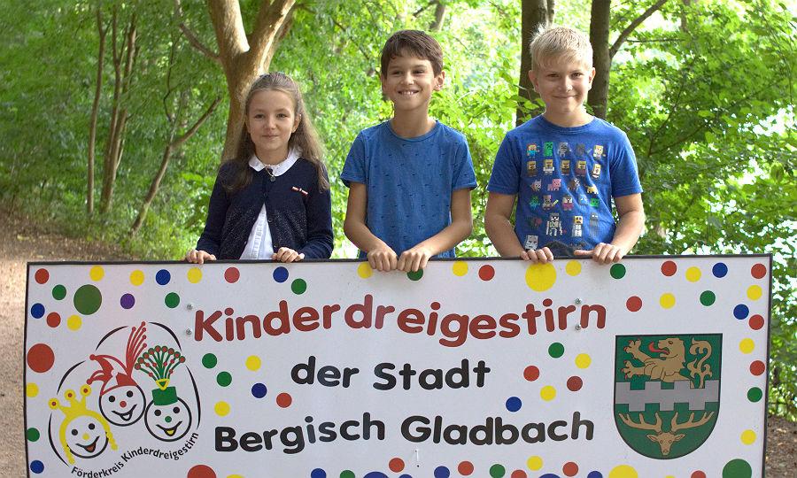 Marie, Henri und Moritz bilden das Kinderdreigestirn der Session 2019