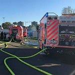 Flüchtlingscamp: Polizei ermittelt wegen Brandstiftung