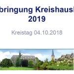 Kreis stellt Haushaltsentwurf für 2019 vor