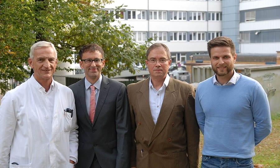 Lungenspezialisten am VPH Bensberg, von links: Dr. Stefan Korsten, Dr. Mario Sanchez-Lansch, Berthold Braun, Francesco Cardone.