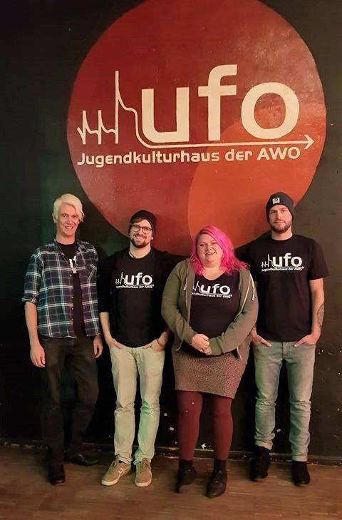 Das UFO-Team: Guido Lohmar, Martin Greiber, Britta Bott, Patrick Kraus