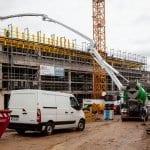 300 Kubikmeter Beton für die neue Schlossgalerie