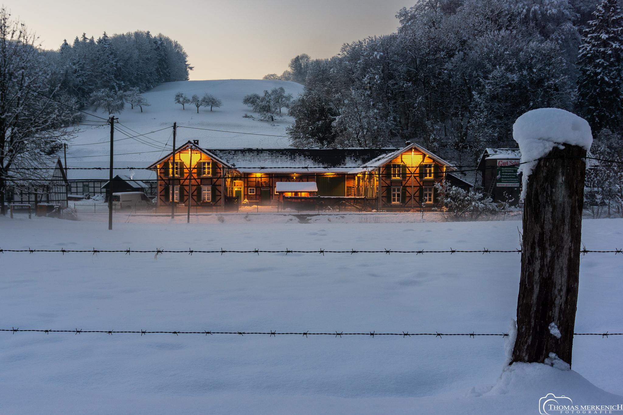 Bild der Woche: Ein Gut im Schnee