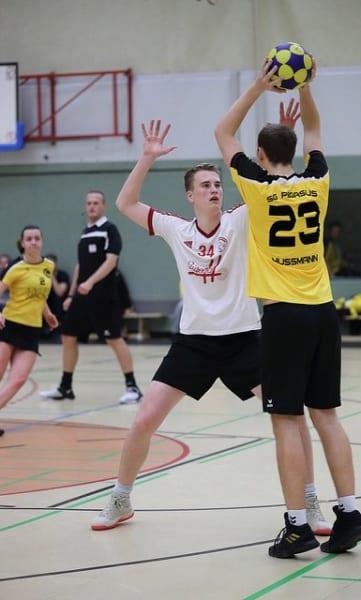 Thorben Hußmann in der Hinrunde gegen den SKC. Foto: korfballfoto.de